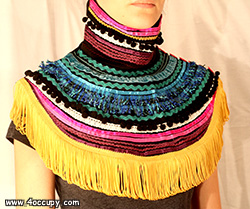 Handcrafted decorative collar for sale.