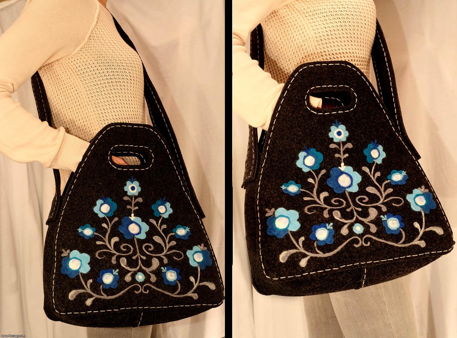 Handcrafted felt handbag