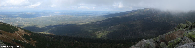 A view of the Karkonosze area
