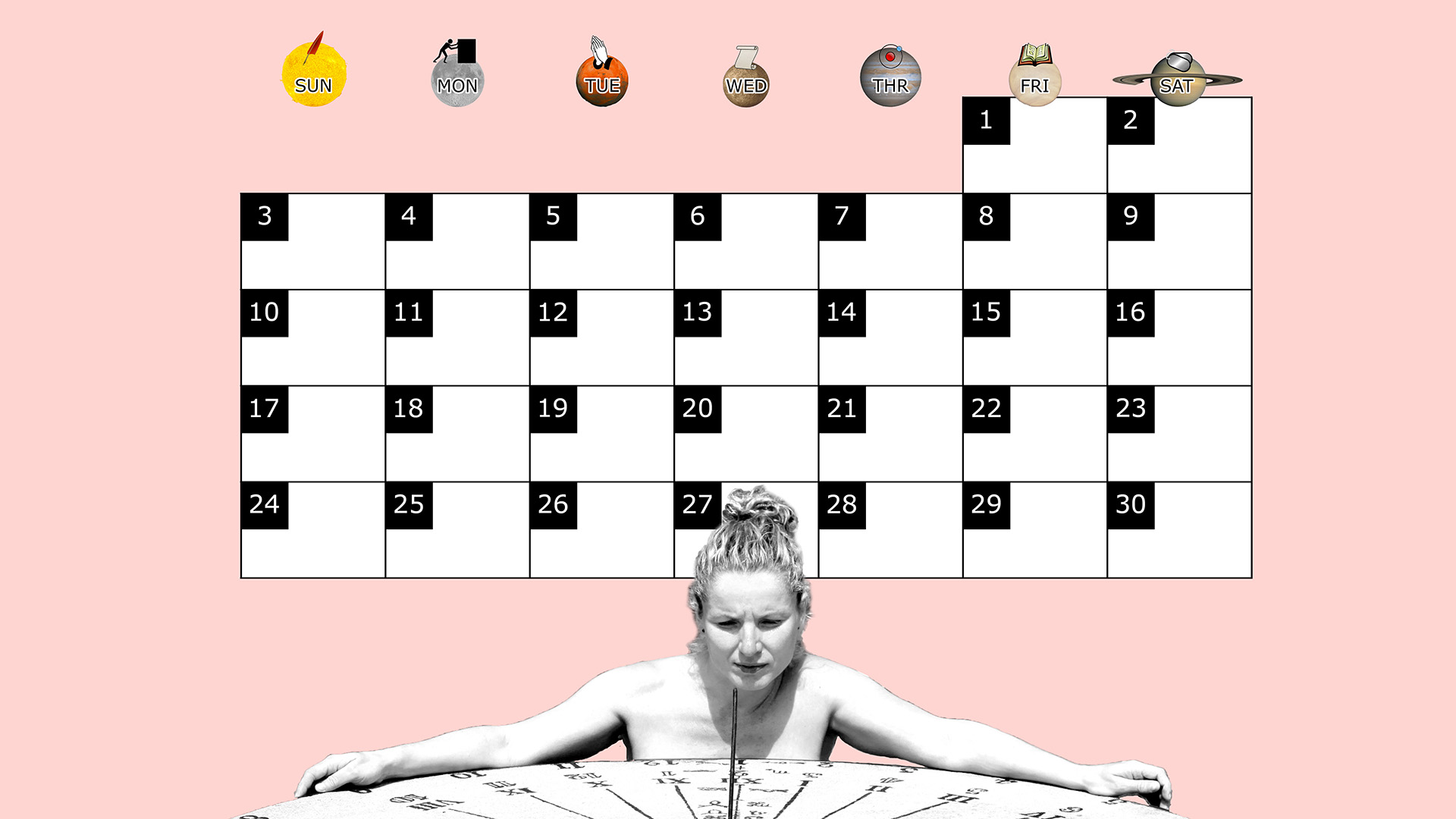 A monthly desktop calendar for November 2013 with a pink background