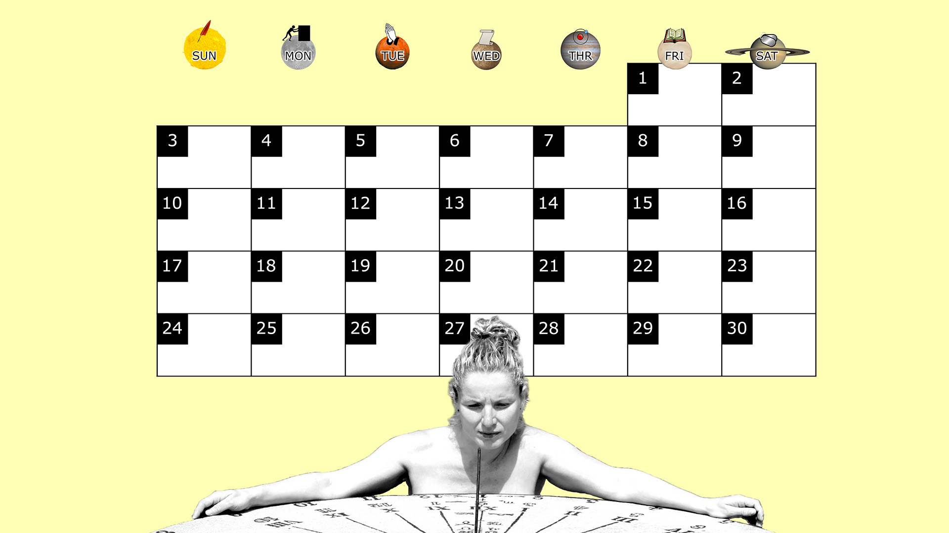 A monthly desktop calendar for November 2013 with a yellow background