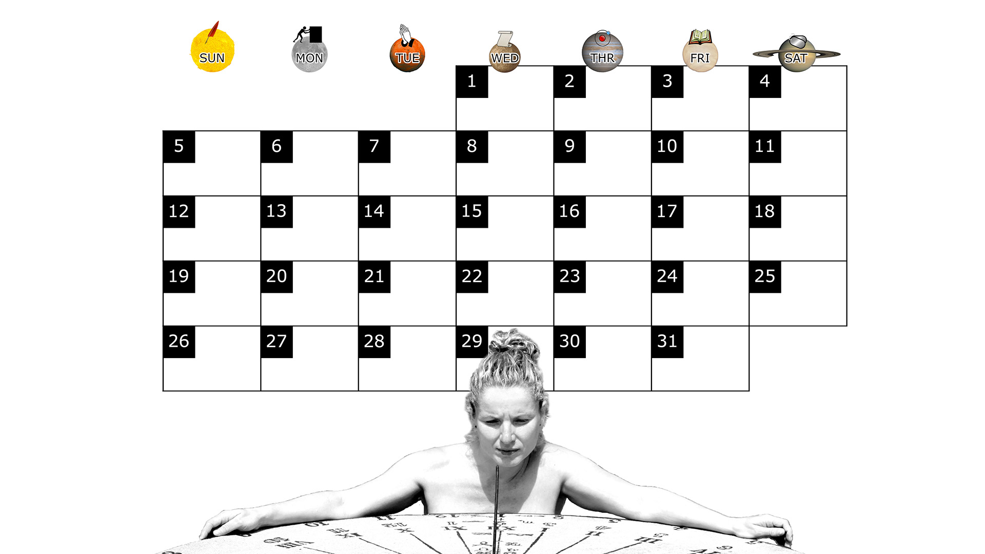 A monthly desktop calendar for October 2014 with a white background