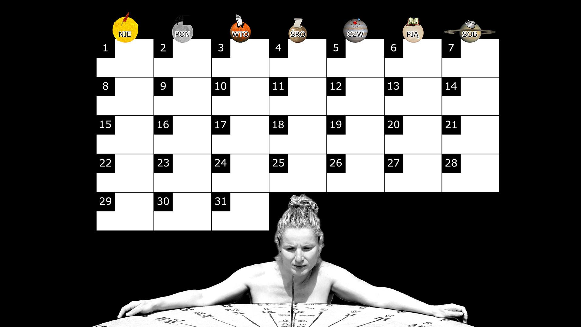 Miesięczny kalendarz na pulpit na grudzień 2013 na czarnym tle