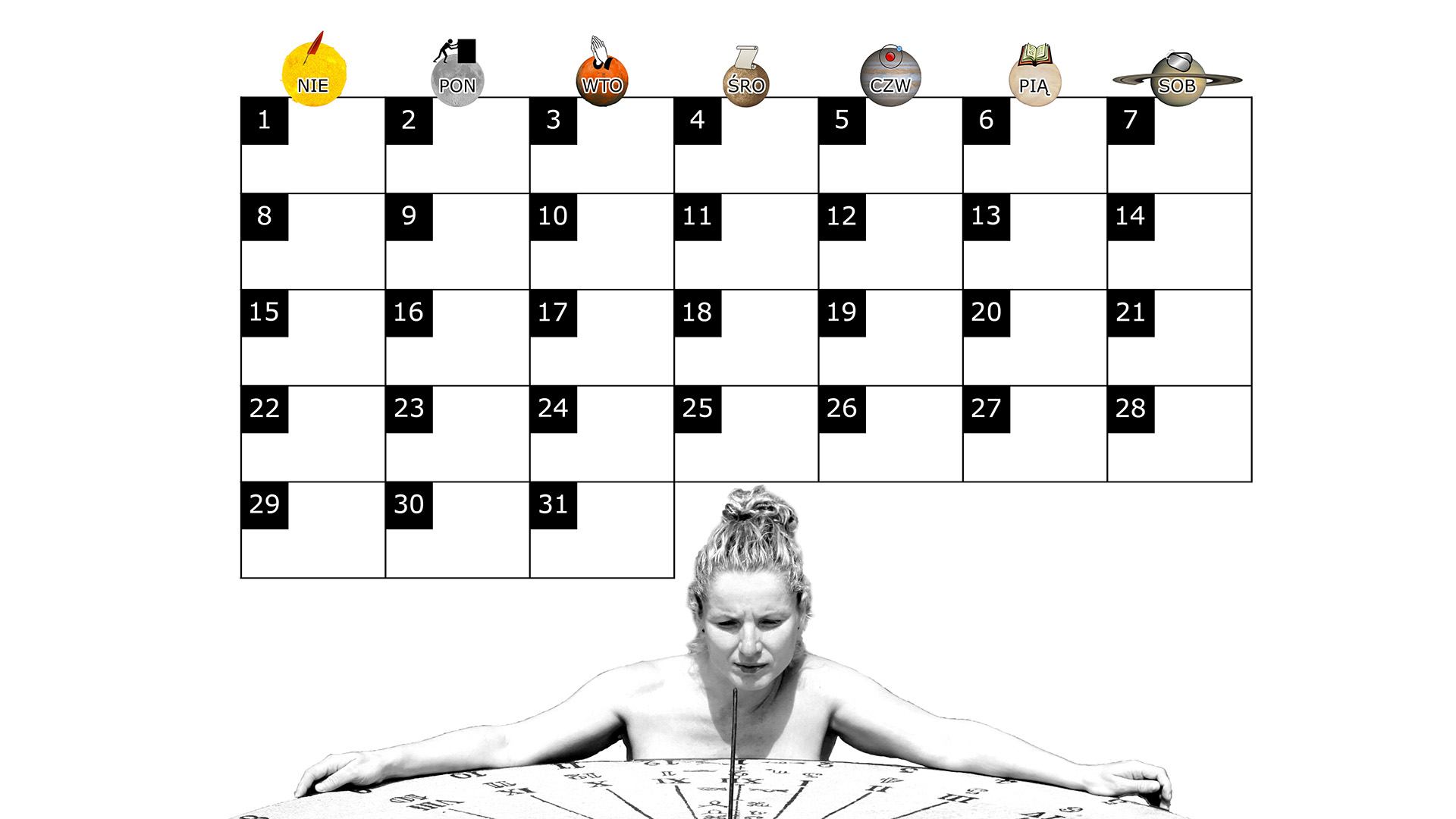 Miesięczny kalendarz na pulpit na grudzień 2013 na białym tle