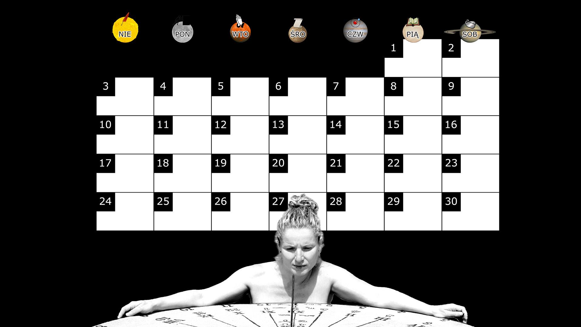 Miesięczny kalendarz na pulpit na listopad 2013 na czarnym tle