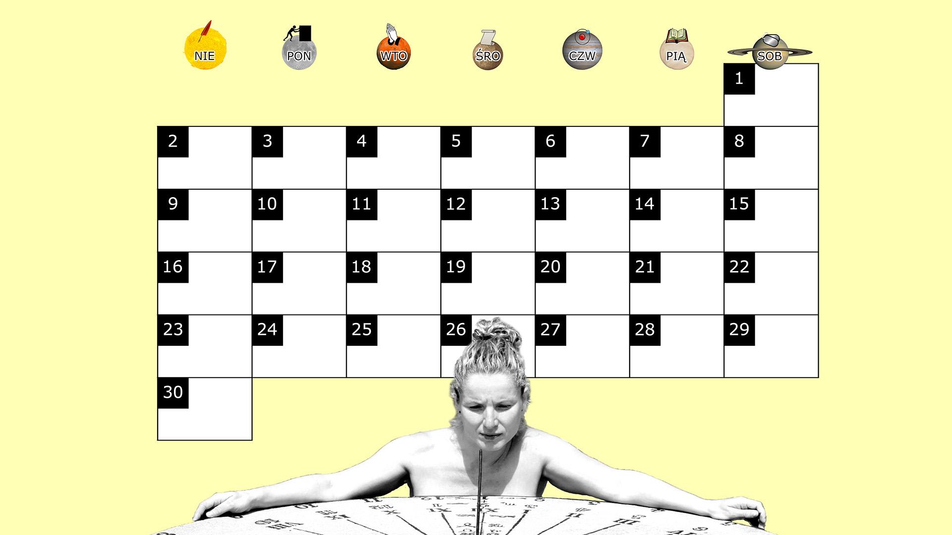 Miesięczny kalendarz na pulpit na listopad 2014 na żółtym tle
