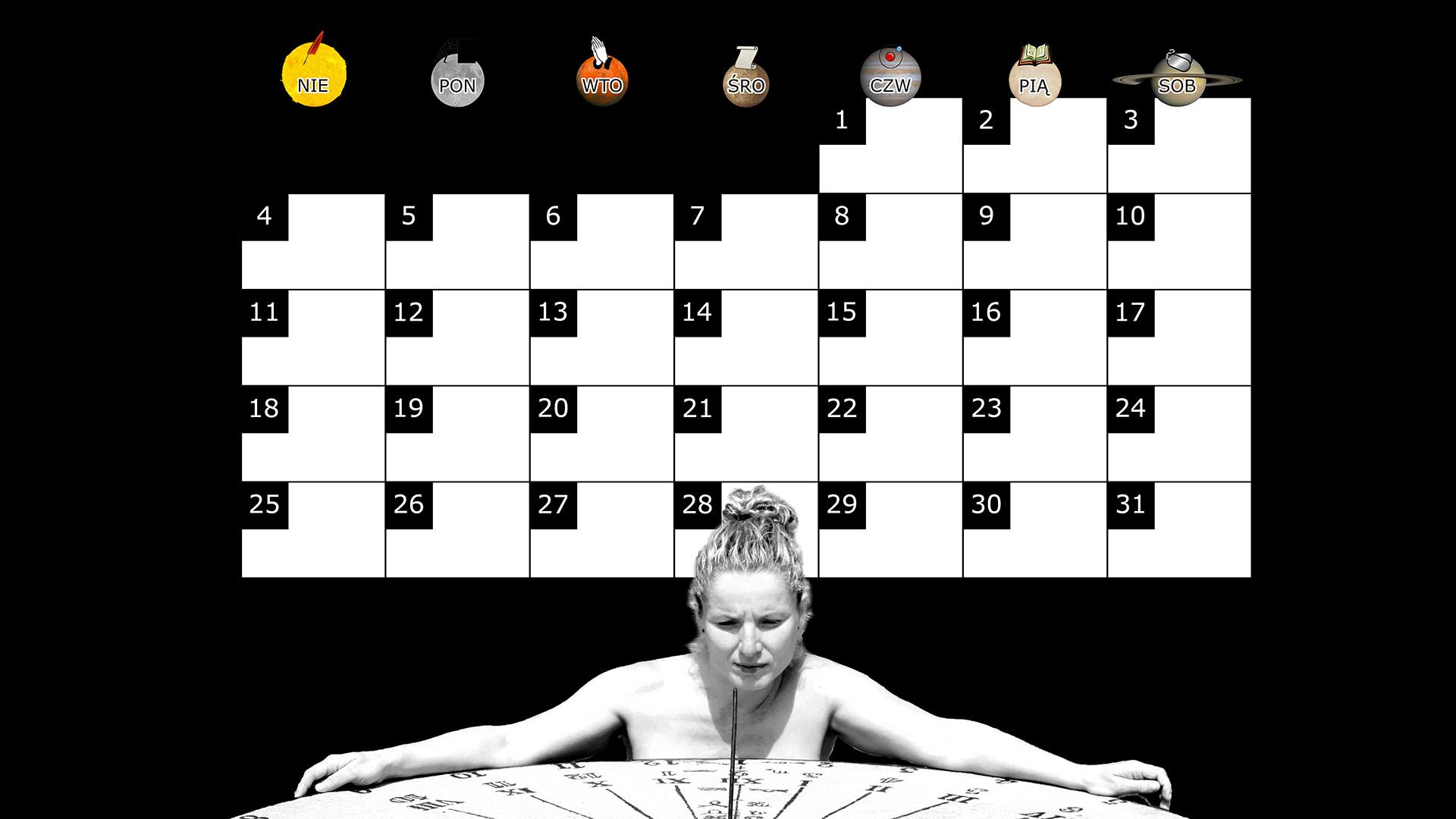 Miesięczny kalendarz na pulpit na maj 2014 na czarnym tle