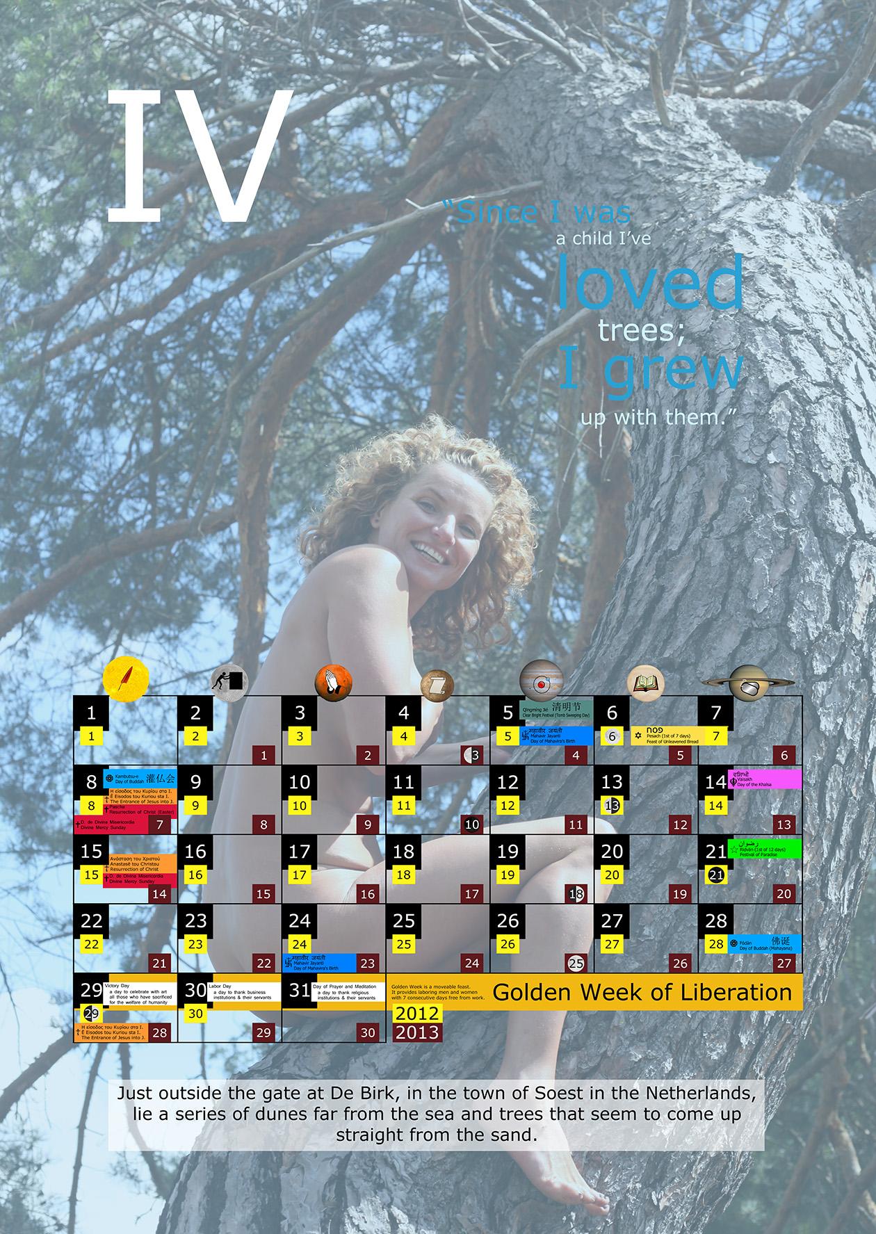 Miesięczny kalendarz świąt na kwiecień 2012 and 2013