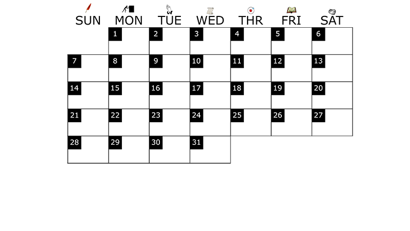 A monthly calendar template for December 2014